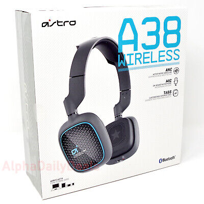 ASTRO Gaming A38 Wireless Headset Noise Cancelling Headphones with Mic Gray