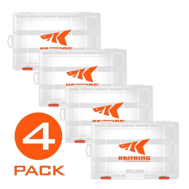 KastKing Tackle Box  4 Packs Plastic Utility Tray Tackle Storage 3600 & 3700 US