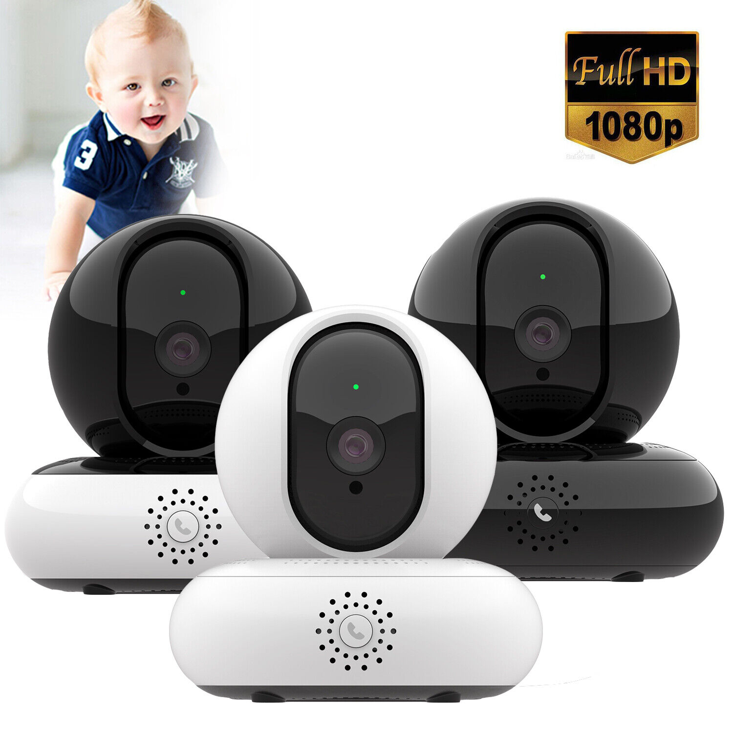 Wireless 1080P Security Camera WiFi Home Surveillance IP Cam