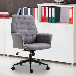 Modern Tufted Home Office Chair Computer Desk Task Seat Swivel Height Adjustable & Tufted Office Chair   eBay