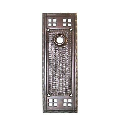 - Bungalow Door Back Plate Mission Arts and Crafts Oil Rubbed Bronze Antique Style