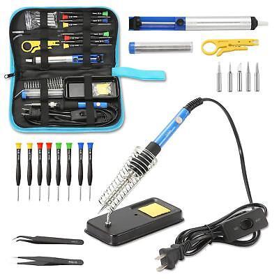 Soldering Iron Kit Electrical Welding Tool Gun Set Solder Station 60w 110v New