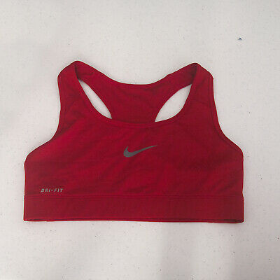 ef9ad376c11c52 NEW Nike Pro Dri-Fit Athletic Training Fitness Medium Support Bra, Red,  SMALL