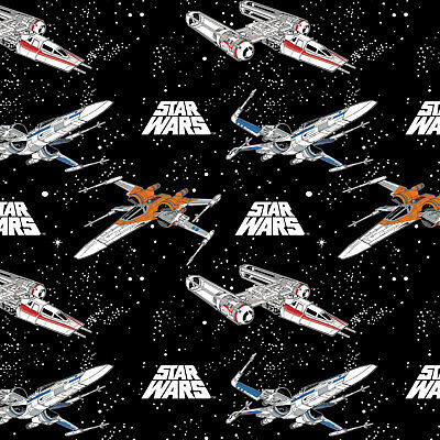 Star Wars Space Battle Stars Fabric Material Fabric
