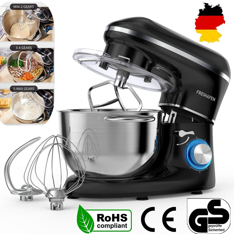 1400W Küchenmaschine Weniges Geräusch Knetmaschine Edelstahl Rührschüssel Robot