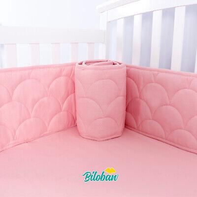 Baby Breathable Crib Bumper Pad Protector Crib Padded Liners 4PCs 52