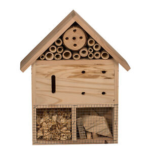 Hanging Wooden Insect Hotel Nest Box Bee House Ladybird Bug Home Garden Shelter
