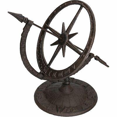 Armillary Sundial Ornament Cast Iron Garden Feature Statue Clock Metal Compass Cast Iron Armillary Sundial