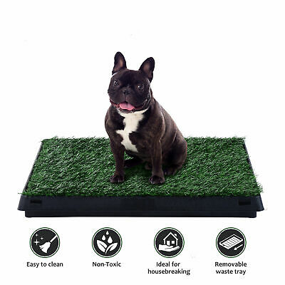 Pet Potty Puppy Dog Toilet Mat Tray Training Grass Pad Pee House Indoor Outdoor - Indoor Dog Toilet
