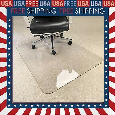 Heavy Duty Hard Chair Mat Crystal Clear 15 Thick 47x40 On Carpethard Floor