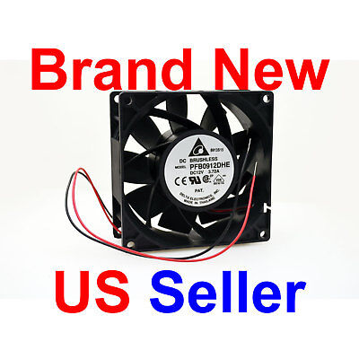 The Highest 175 Cfm 92x92x38 Mm Fan Delta Pfb0912dhe-2wire Extreme Hi Speed 12v