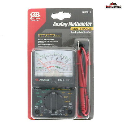 Gardner Bender Inc Gmt-318 Multimeter Analog 14 Range New