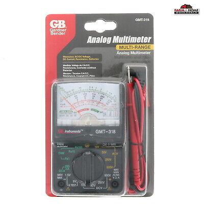 Gardner Bender Inc Gmt-318 Multimeter Analog 14 Range New
