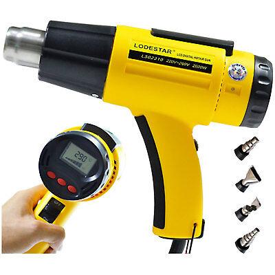 LODESTAR LCD Digital Adjustable Nozzle Hot Air Heat Gun 2000W AC220V Temperature