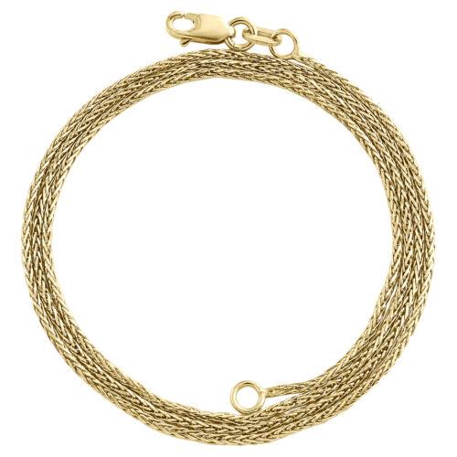 Length Options 10k Wg 1mm Spiga Pendant Chain 16 18 20 24