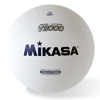 Mikasa Indoor-Outdoor Volleyball, Accu-Balance True Shape Retention Ball-White