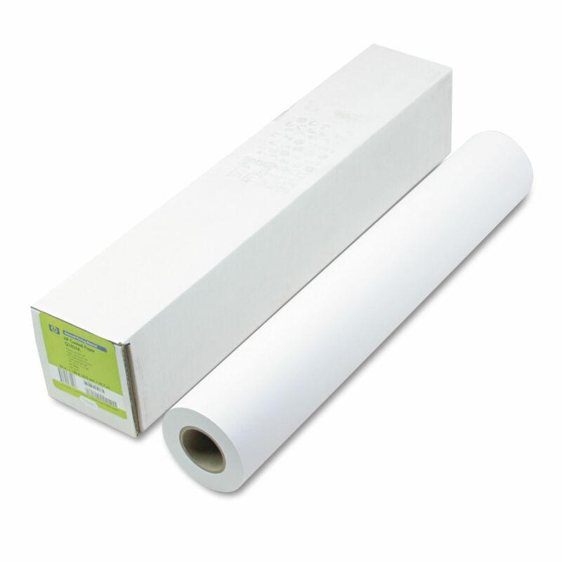 "HP Designjet Inkjet Large Format Paper 4.9 mil 24"" x 150 ft White Q1404B"