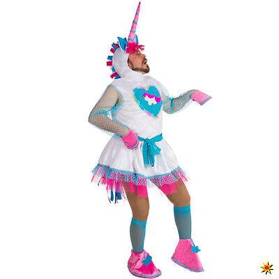 Herren Kostüm Einhorn Einheitsgröße Männerbalett Tier lustig Fasching - Einhorn Kostüm Lustig