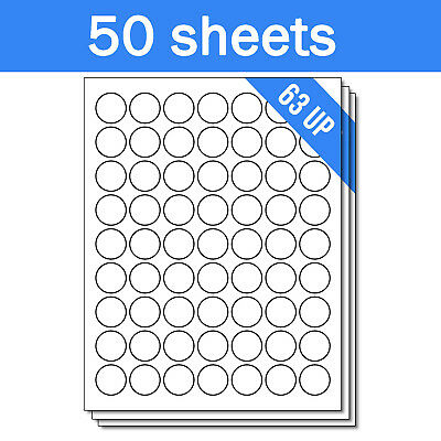 Round Circle Dot 1 Stickers Labels For Laser Ink Jet Printers 3150 Sheets