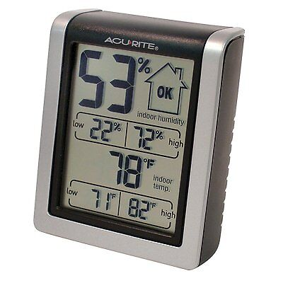 Humidity Meter Compact Indoor Humidifier Weather Monitor Thermometer Gadget NEW
