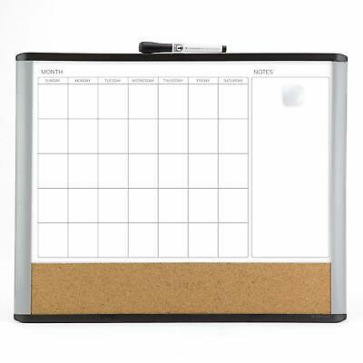 Magnetic Dry Erase Calendar Board Cork Magnet Whiteboard Mounting Wall Notes