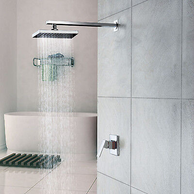 """18"""" Inches Chrome Obstacle Mount Rain Waterfall  Single Handle Shower Faucet Head US"""