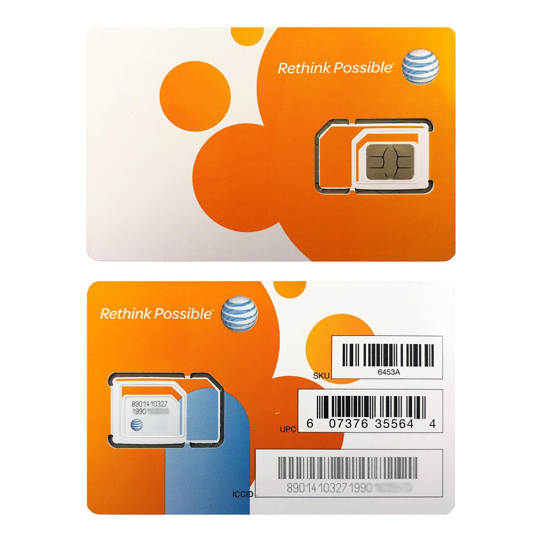 AT&T GO PHONE NANO SIM CARD 4G LTE sim.  TRIPLE CUT