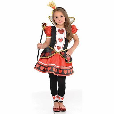 Mädchen Alice Mad Hatter Herzdame Kostüm Im Wunderland - Mädchen Mad Hatter Kostüm