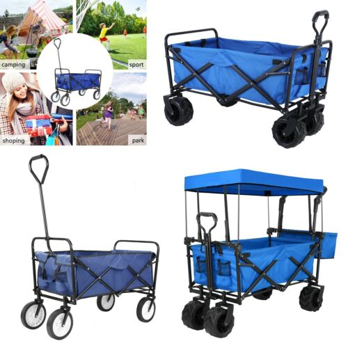Collapsible Folding Wagon Utility Outdoor Camping Garden Car