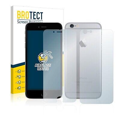 Protector Pantalla para Apple iPhone 6S (Frontal + Trasera) Cristal Mate Vidrio