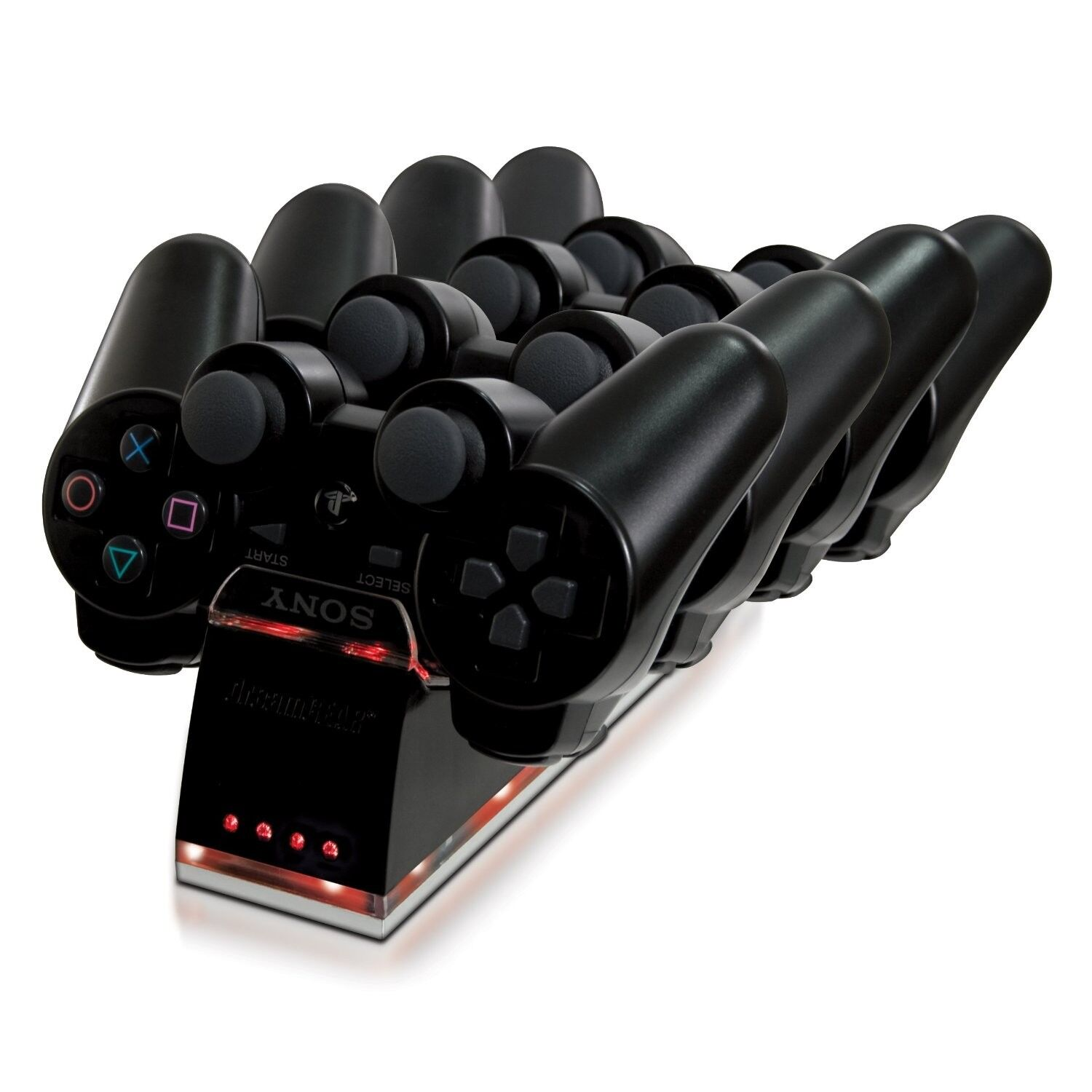 Dreamgear PS3 Quad Dock Dualshock Controllers Charger Station For Playstation 3
