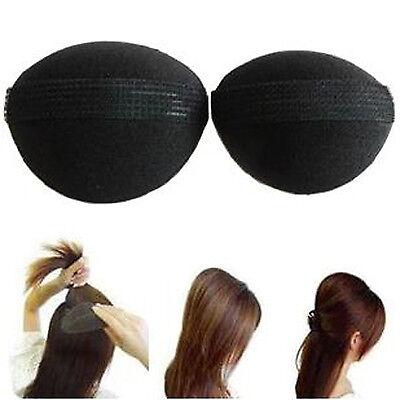 2er Set Haarkissen Haar Volumen Schaumstoff Kissen Frisurenhilfe mit Klettband