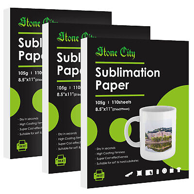 330 Sheets Dye Sublimation Ink Heat Transfer Paper Cotton Polyester Mugs 8.5x11