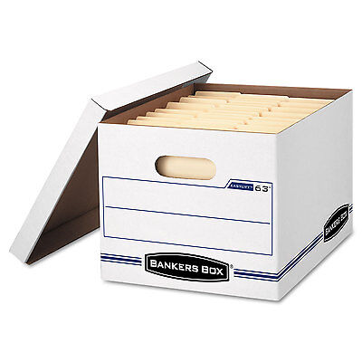 Bankers Box Easylift Storage Box Letterletter Lift-off Lid Whiteblue 12carton