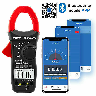 Clamp Multimeter Bt-570c-app Btmeter Auto Range Acdc Clamp Meter 4000 Counts