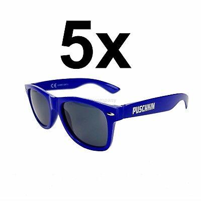 Puschkin Sonnenbrille Wayfarer Nerd Brille mit UV 400 Schutz - rot Aktion - 5 S