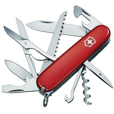 Victorinox Swiss Army Multi-Tool, Huntsman Pocket Knife - Red