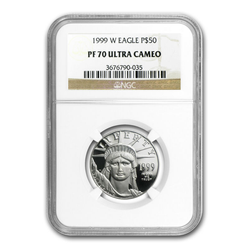 1999-w 1/2 Oz Proof Platinum American Eagle Pf-70 Ngc - Sku #59735