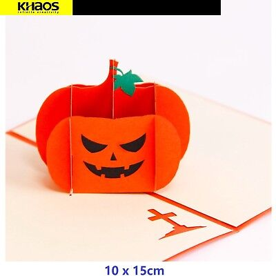 Halloween Birthday Greetings (Halloween pumpkin Handmade Pop Up 3D Card Paper Greeting Card)