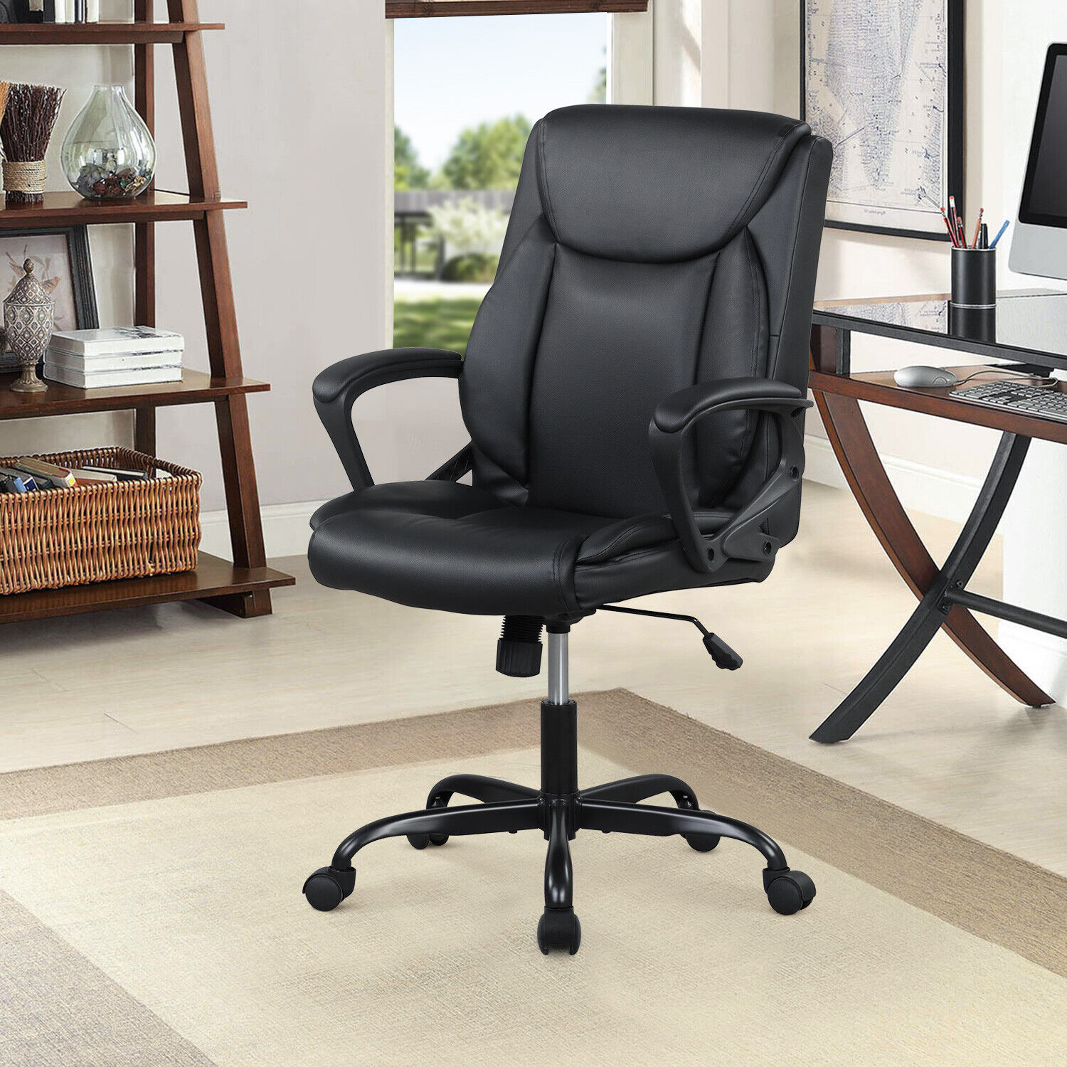 Home Office Chair Ergonomic Desk Chair PU Leather Task Chair Business & Industrial
