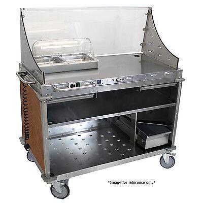 Cadco Cbc-dc-l1 Large Hot Food Mobile Demosampling Cart