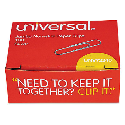 Universal Nonskid Paper Clips Wire Jumbo Silver 1000pack 72240