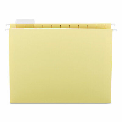 Smead Hanging File Folders 15 Tab 11 Point Stock Letter Yellow 25box 64069