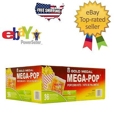 Gold Medal Mega Pop Popcorn Kit (6 oz. kit 36 ct.) Snack Food Fast Free (Mega Popcorn)