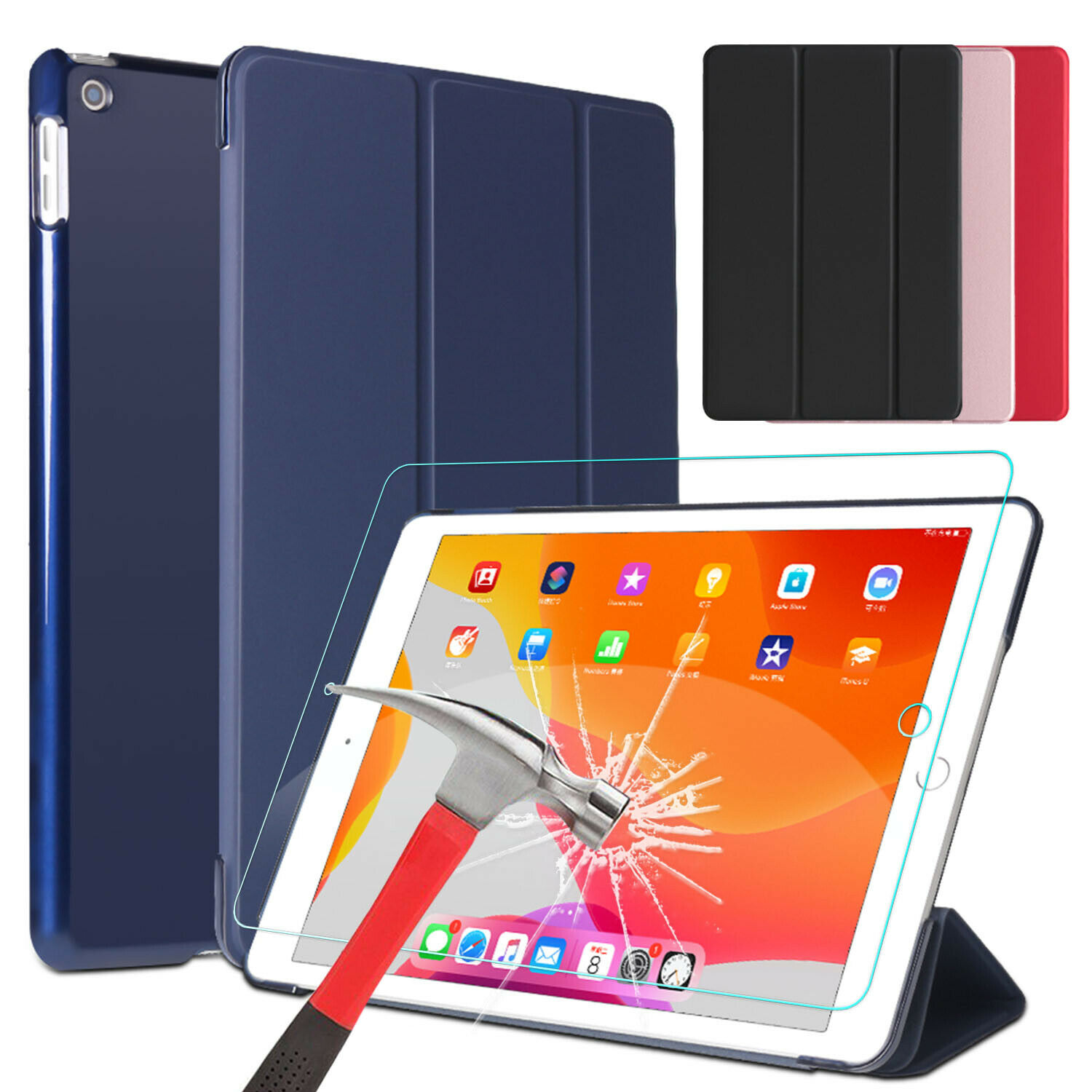 For iPad 8th/7th Generation 10.2 inch Case Leather Stand Cov