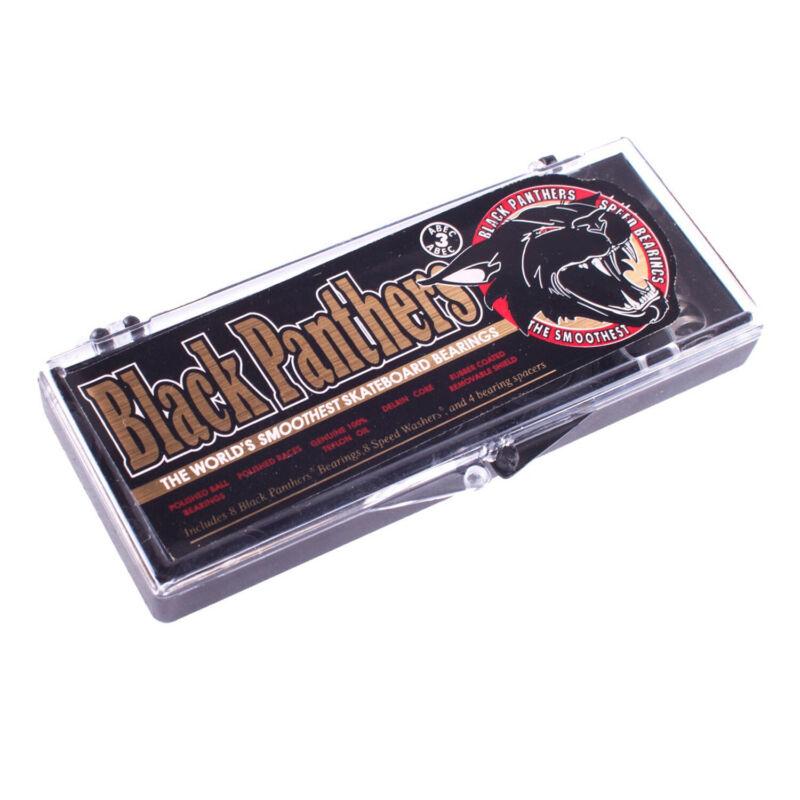 Shortys Black Panthers Skateboard Bearings Abec 3 - Set of 8