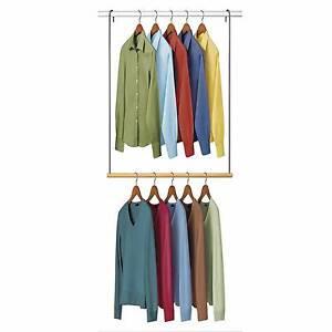 Wardrobe organiser x2 - wood/chrome Sans Souci Rockdale Area Preview