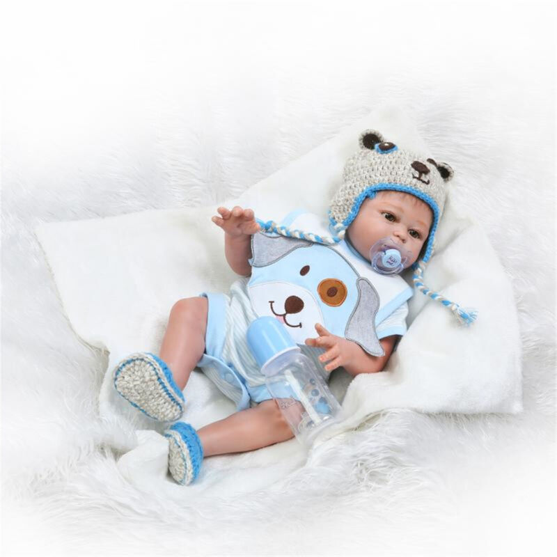 "Waterproof Reborn Baby Dolls Boy Full Body Silicone 20"" Newborn Baby Doll Gift"