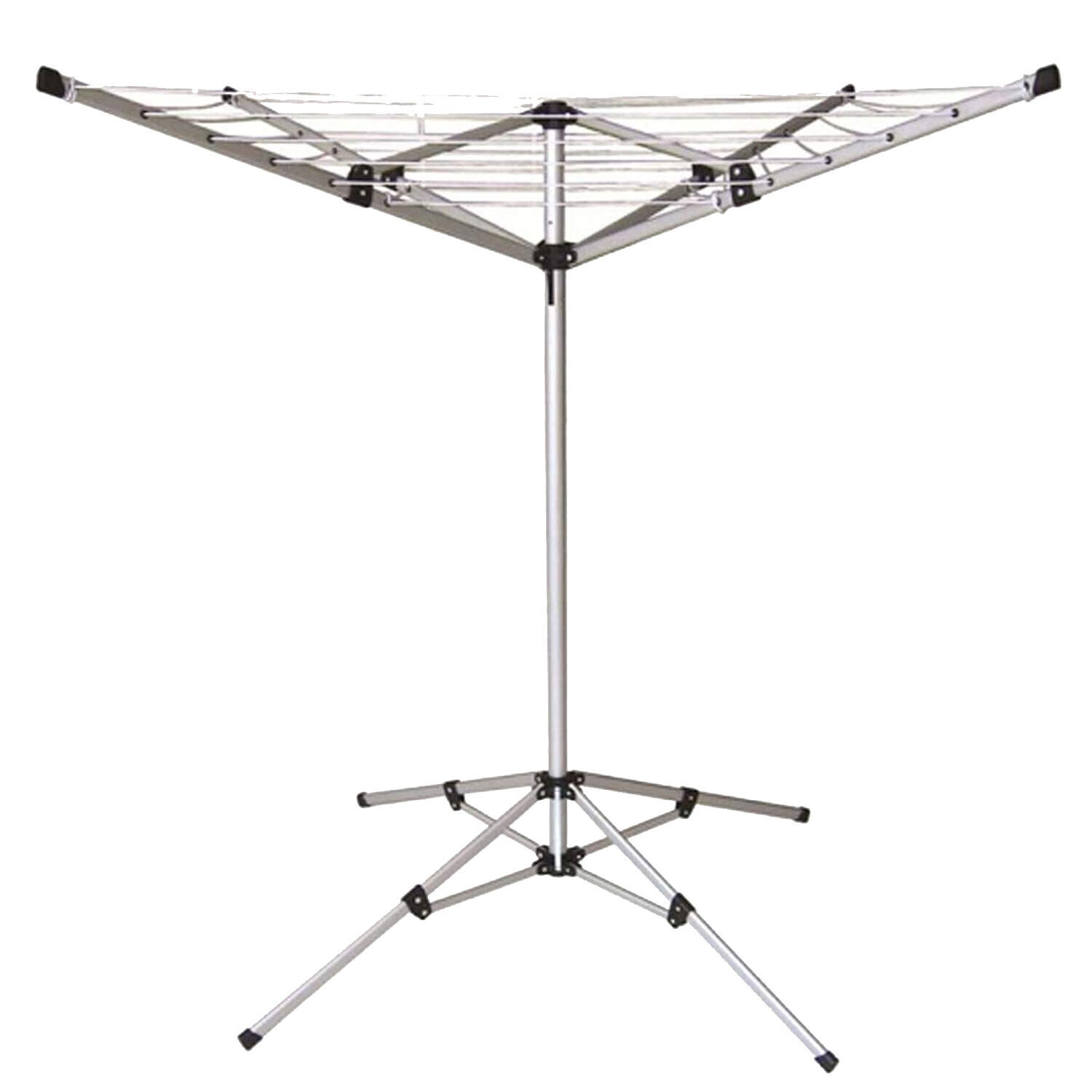 16M CLOTHES AIRER OUTDOOR INDOOR ROTARY WASHING LINE 4 ARM FREE STANDING LAUNDRY