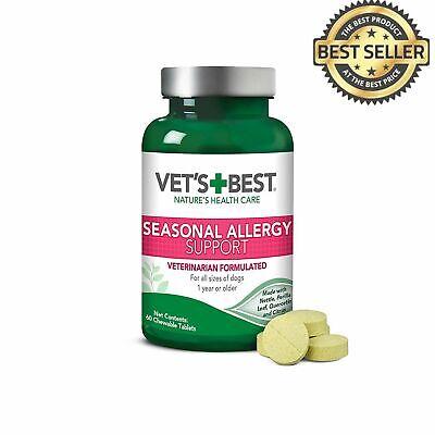 Vet's Best Seasonal Dog Allergy Supplement Relief 60 Chewable